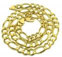 10k yellow gold thick solid figaro chain 28 inch 12.2mm