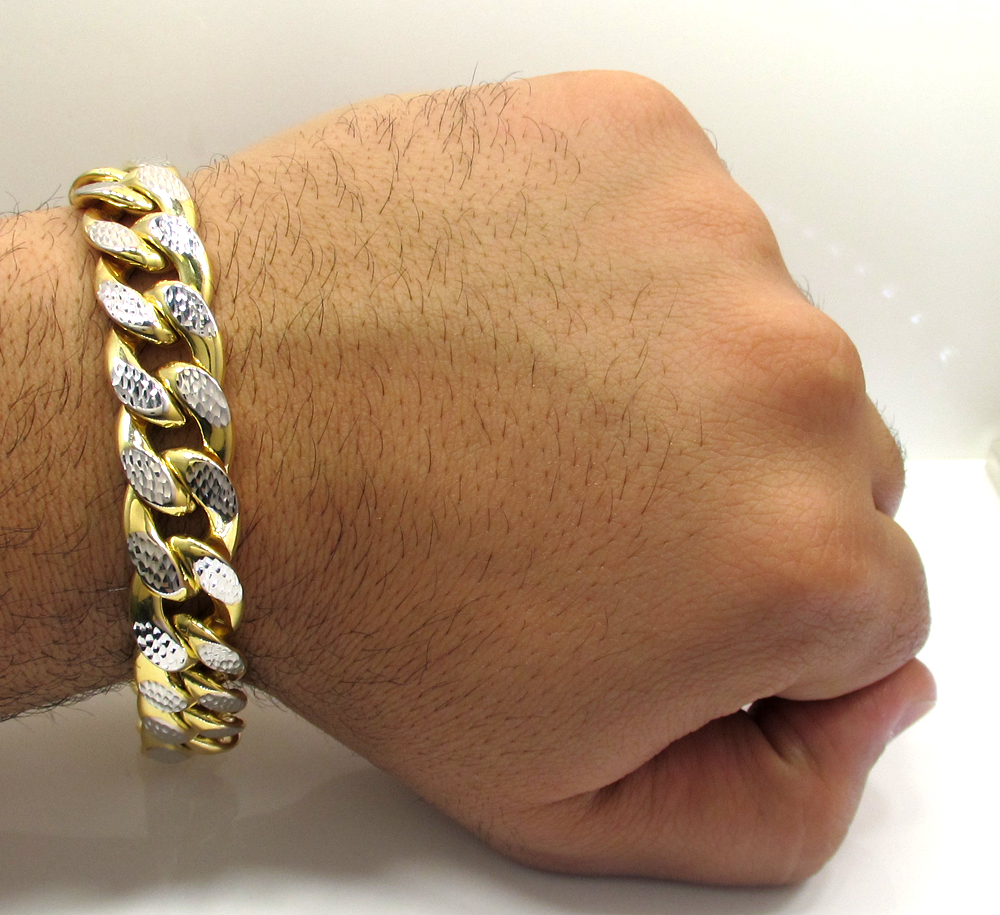 cut bangle inch gold lg mens diamond one cuban yellow sided bracelet bangles bracelets