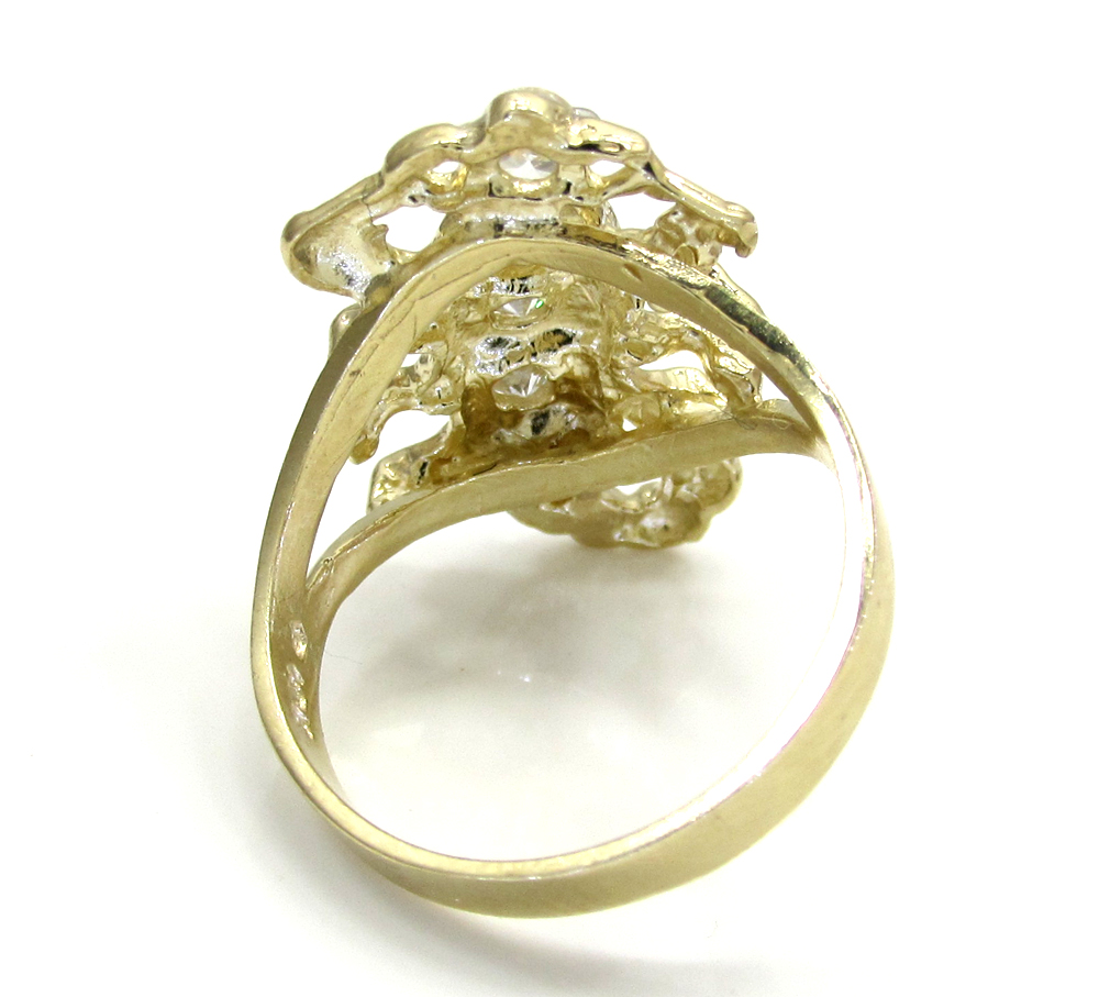 Ladies 10k two tone cz scorpion ring 0.20ct