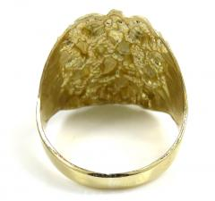 Mens 10k yellow gold xl curved nugget ring