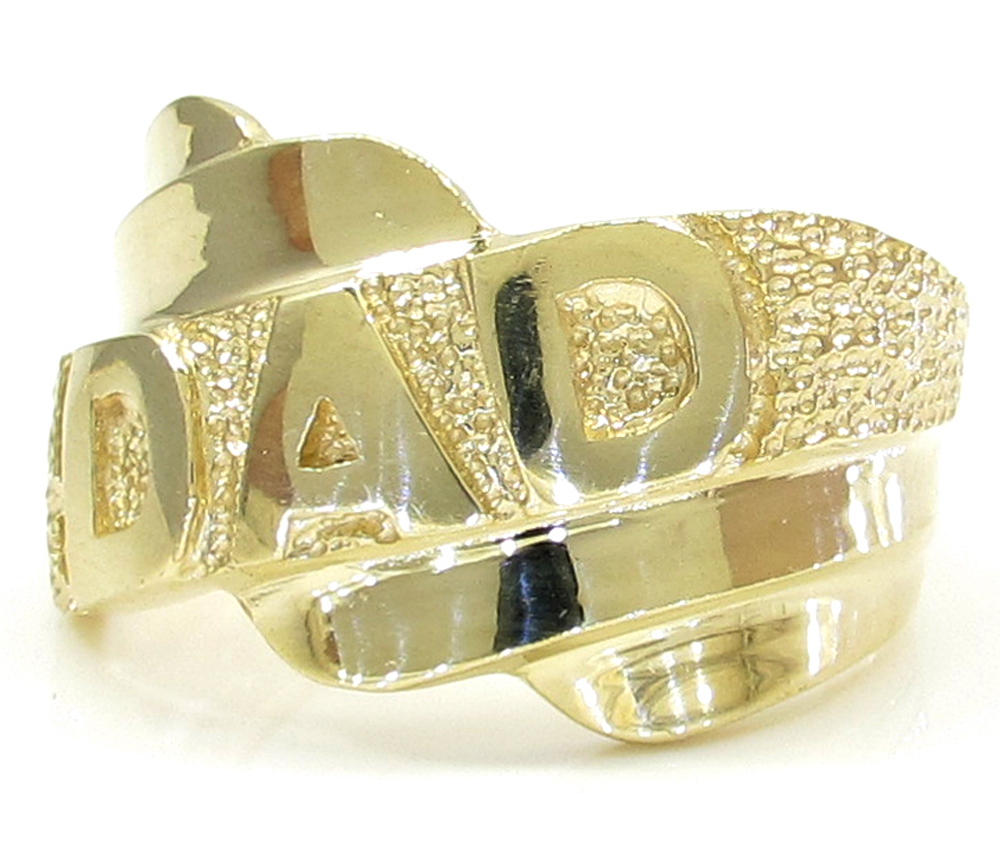 10k yellow gold fathers day twist dad ring
