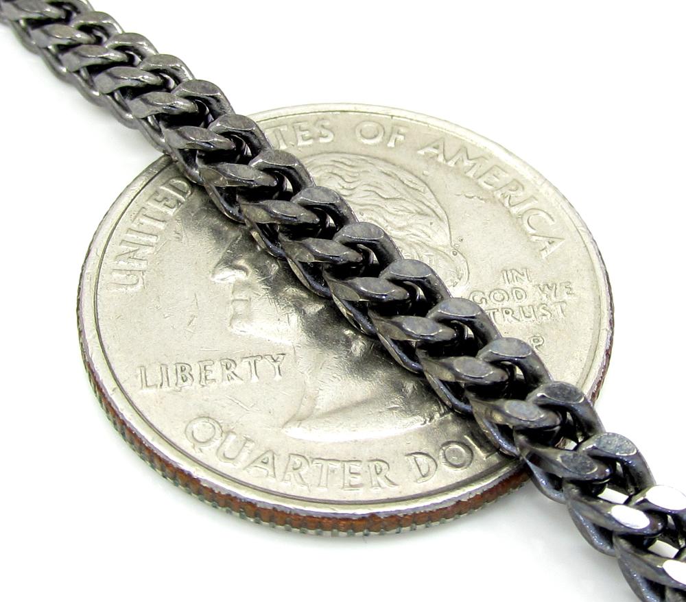 10k black gold franco bracelet 8.50 inch 3.2mm