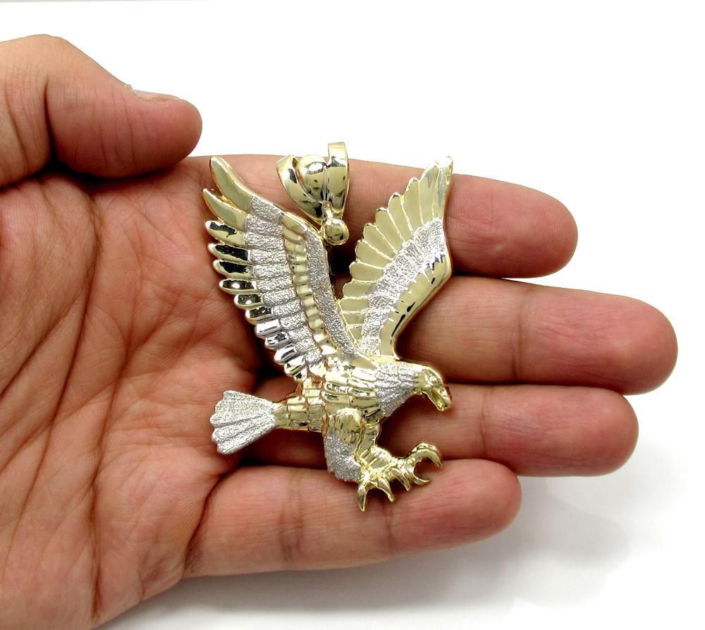 LG-11 FLYING EAGLE GOLD LAYERED FASHION PENDANT