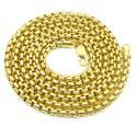 10k yellow gold venetian box chain 22-26 inch 3.5mm