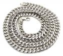 10k white gold hollow puffed miami chain 20-26 inch 6.7mm