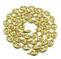 10k yellow gold puffed gucci hollow chain 28 inch 9mm