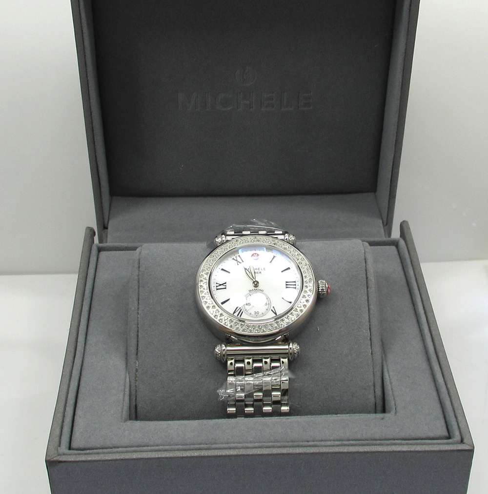 Ladies michele women's caber diamond stainless steel watch mw16a01a2025