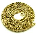 14k yellow gold medium hollow wheat franco chain 16-30 inch 4mm
