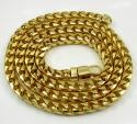 10k Solid Yellow Gold Tight Link XL Franco Chain 26-30 Inch 6mm