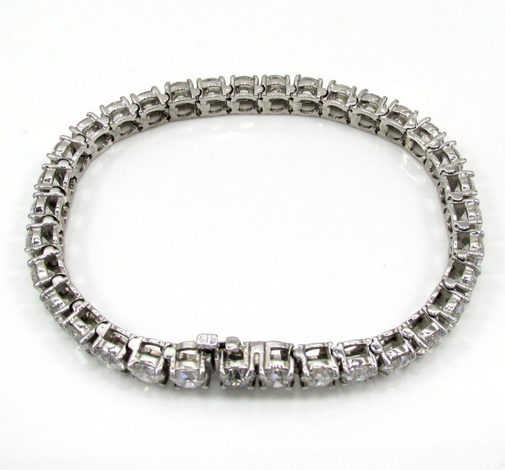 Ladies 14k white gold fancy diamond tennis bracelet 7 inch 5mm 17.08ct