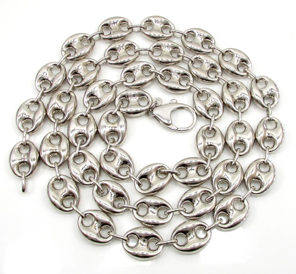 Silver Gucci Puff Chain 30 Inch 12 3mm