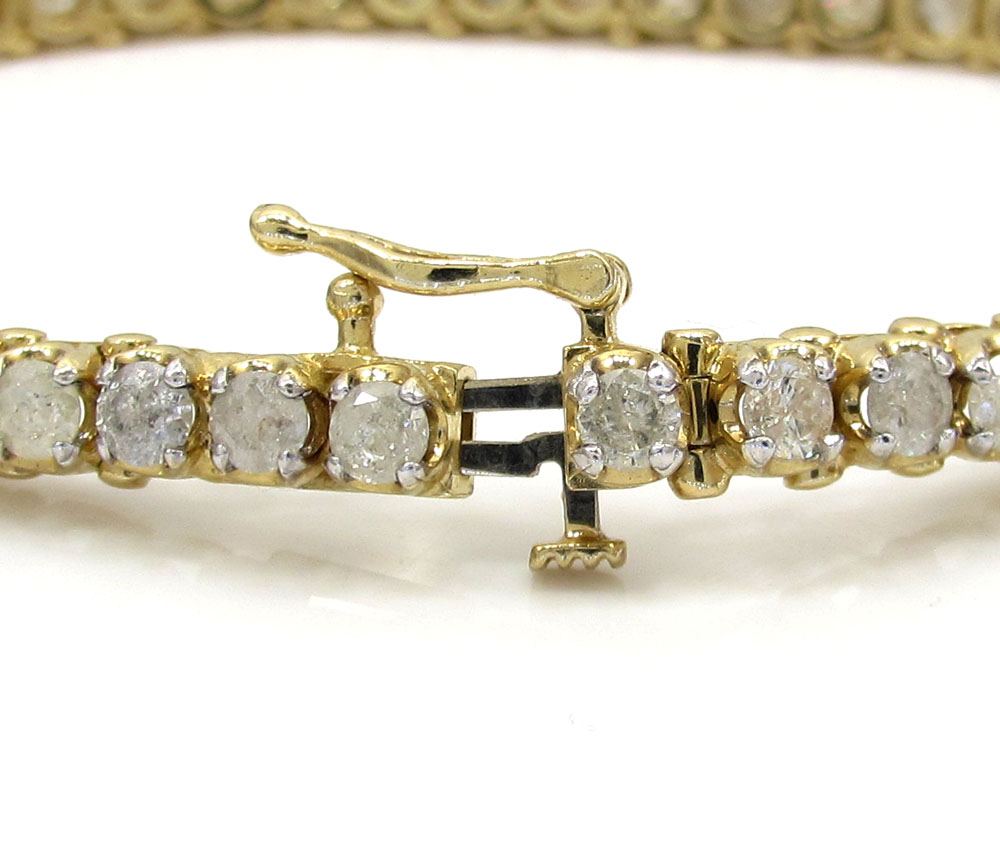 Ladies 14k yellow or white gold tennis bracelet 7 inch 5mm 2.35ct