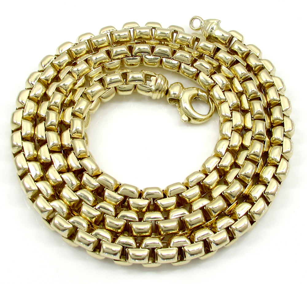 14k yellow gold italian super xl box chain 24-30 inch 6.8mm
