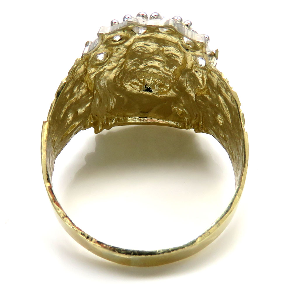 10k yellow gold jesus face ring 4.50 grams