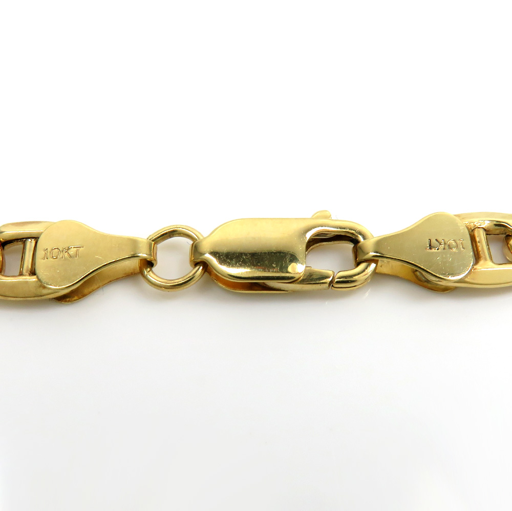 10k yellow gold mariner bracelet 9.00 inch 7.80mm