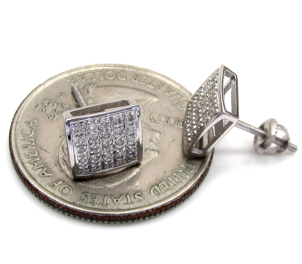 10k gold 5 row diamond earrings 0.16ct