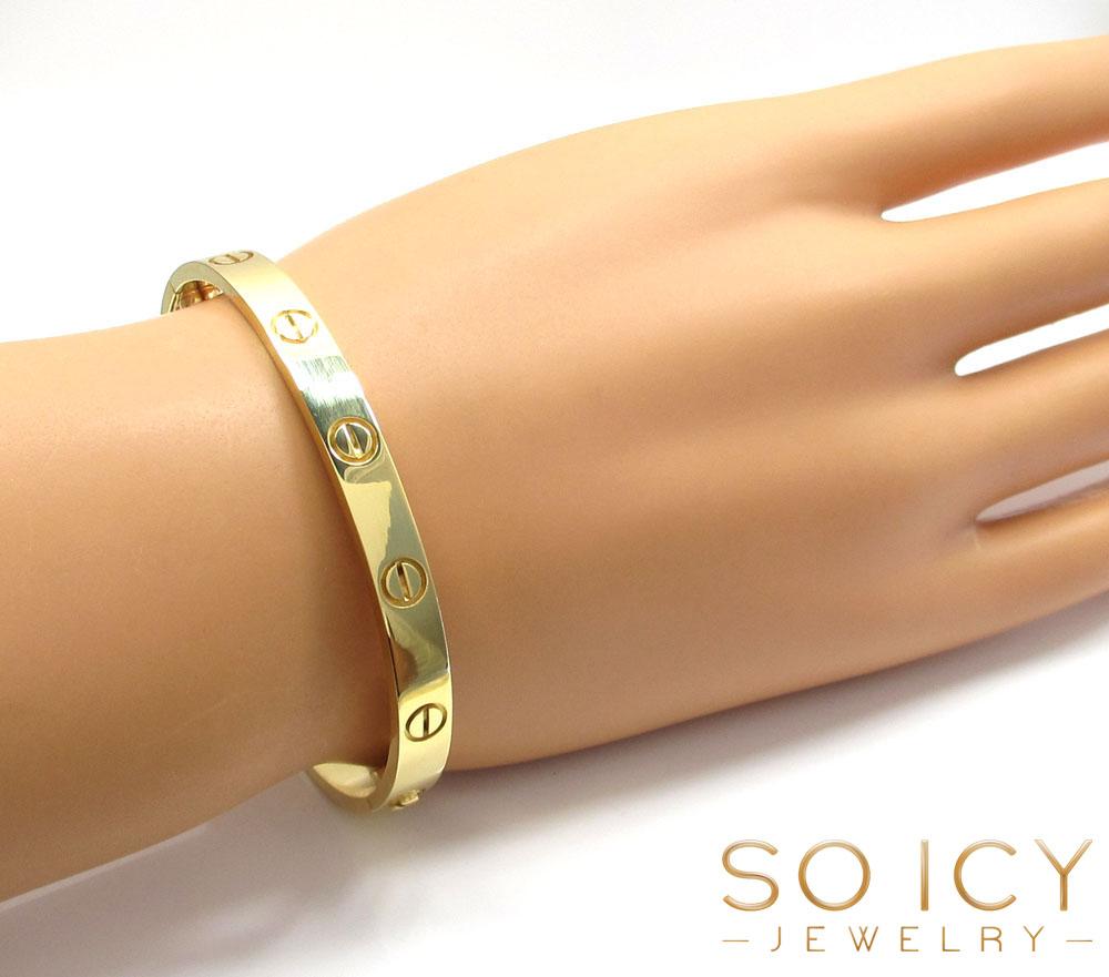 18k yellow gold cartier love bracelet 17cm