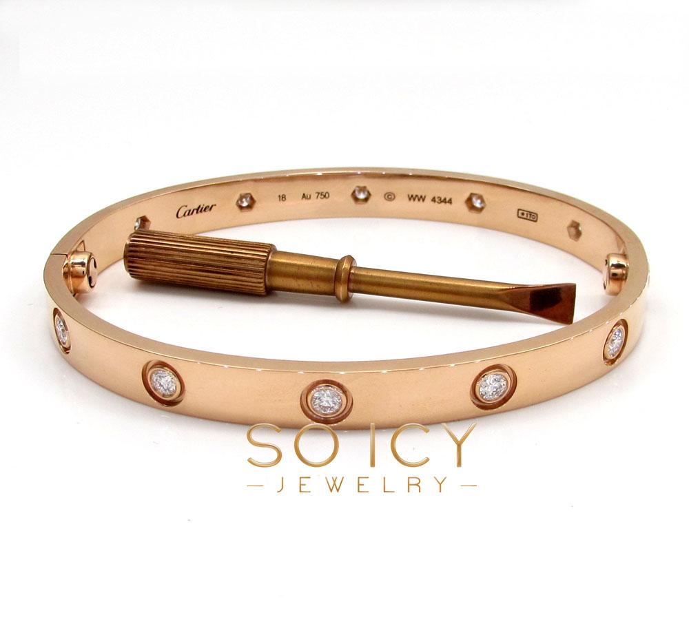18k pink gold cartier love bracelet 17cm