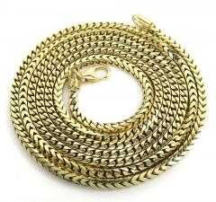 14k solid yellow gold franco chain 20-30 inch 2.3mm