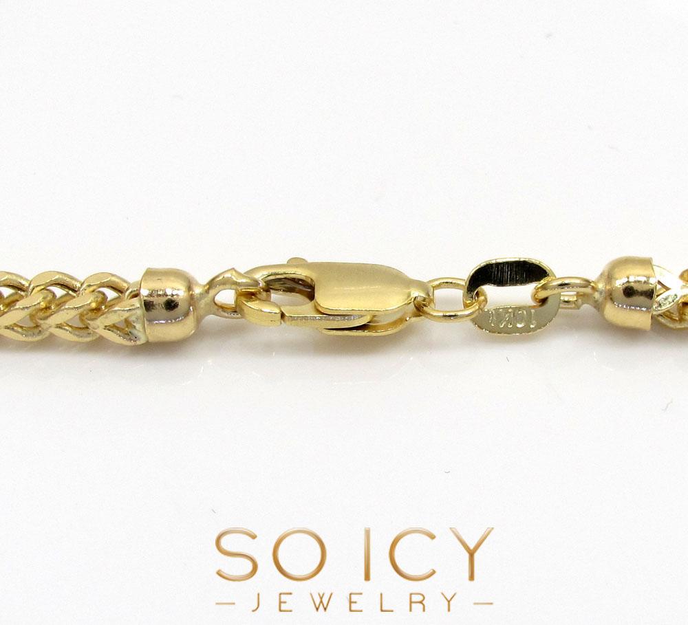 10k yellow gold semi-hollow franco chain 20-34 inch 2.8mm