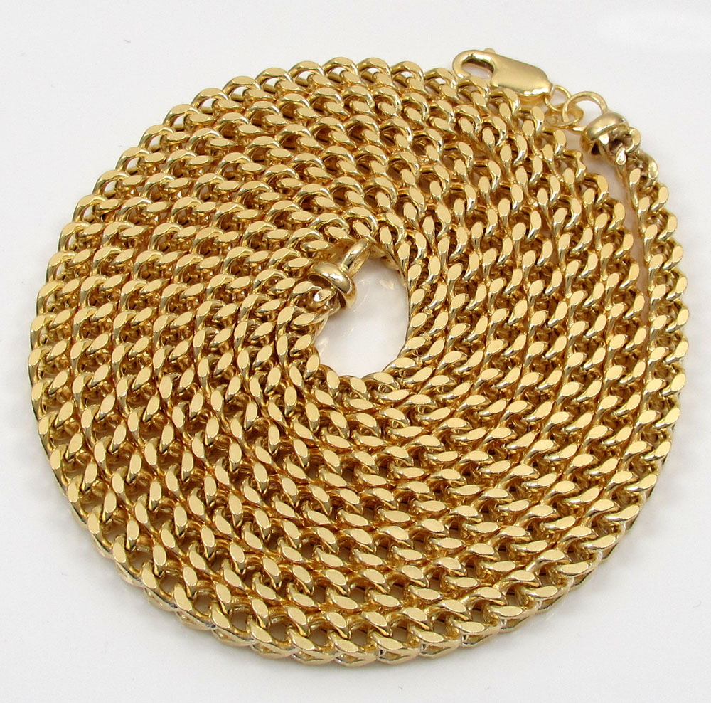 10k yellow gold hollow thick franco chain 22-30 inch 4mm