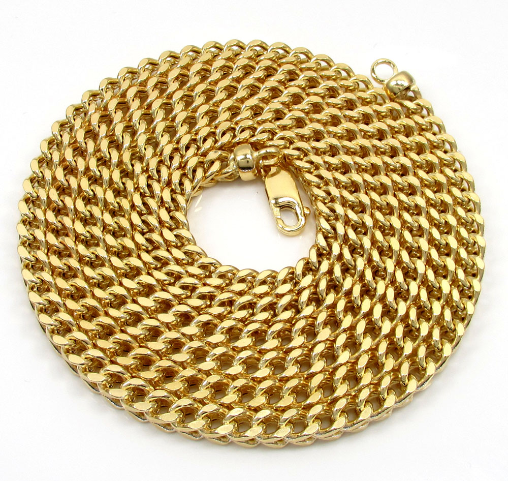 10k yellow gold hollow xl franco chain 20-40 inch 5mm