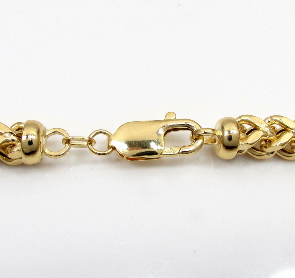 10k yellow gold hollow xxl franco chain 20-34 inch 6mm