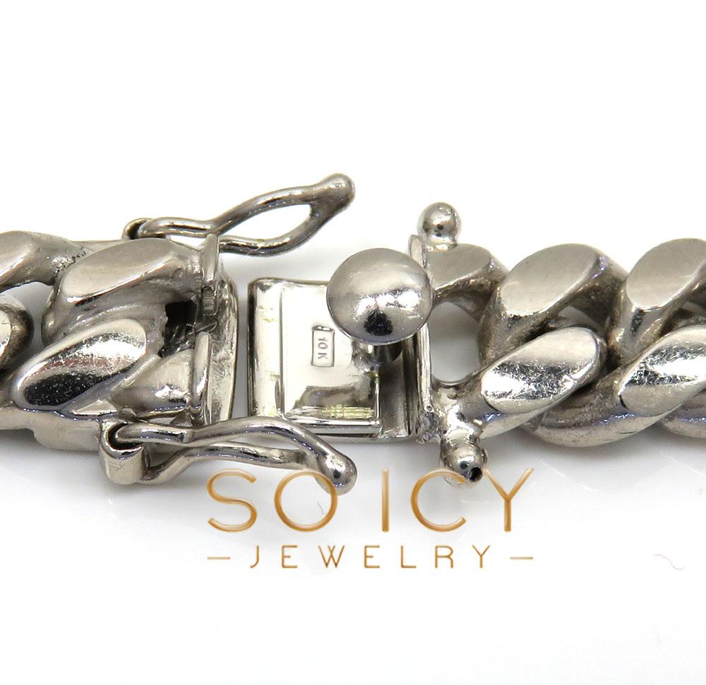 10k white gold solid xl miami chain 22-26 inch 10.5mm