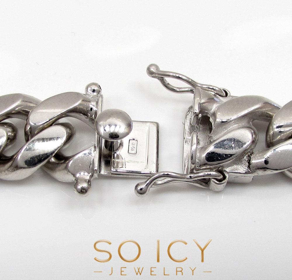 10k white gold solid xl miami chain 22-28 inch 12.1mm
