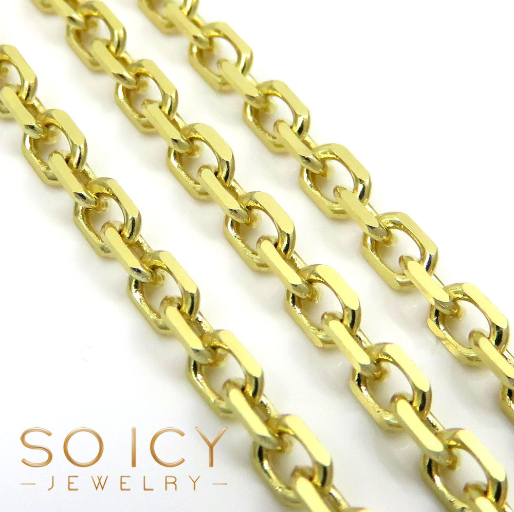 10k yellow gold solid cable chain 24-30 inch 2.80mm
