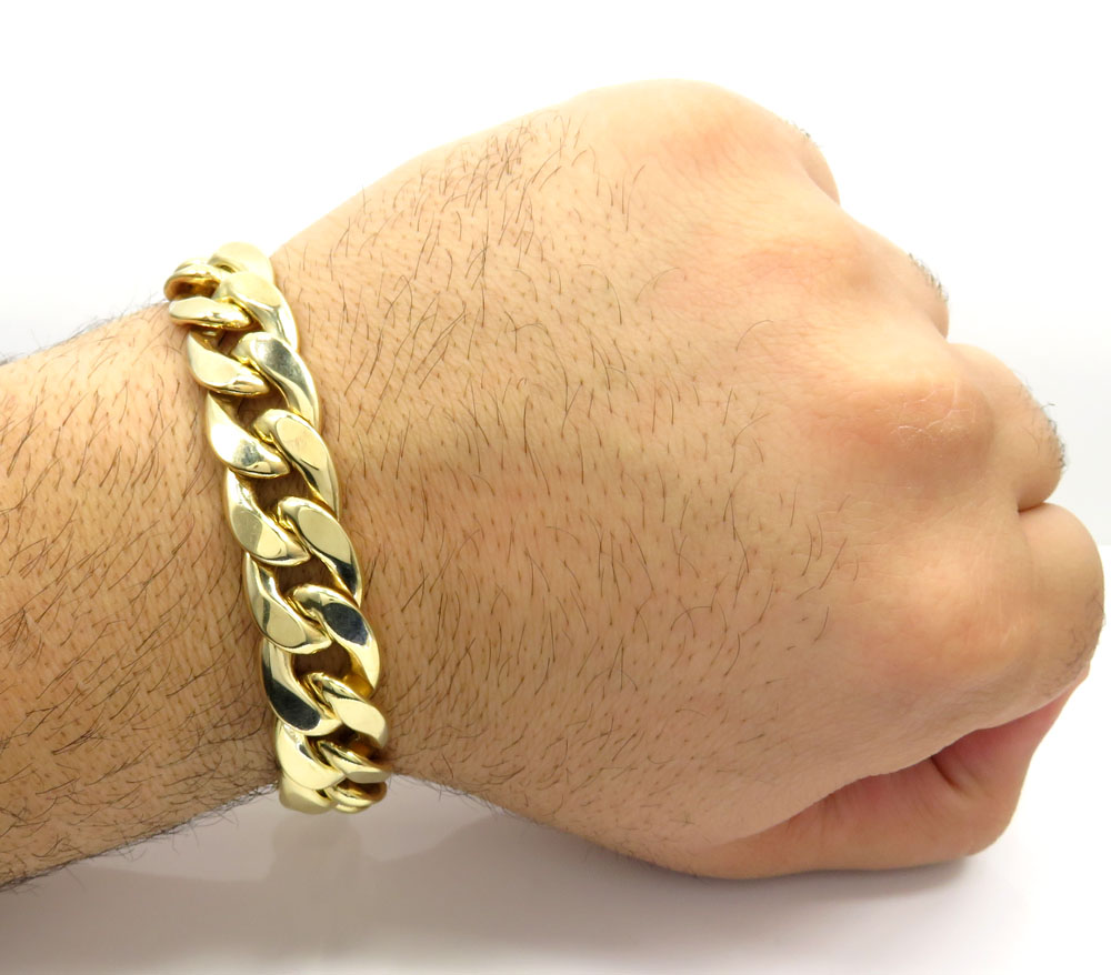 fancy style hollow room l gold interlocking property bracelet yellow byzantine link