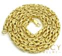 10k yellow gold byzantine chain 20-22inch 4mm