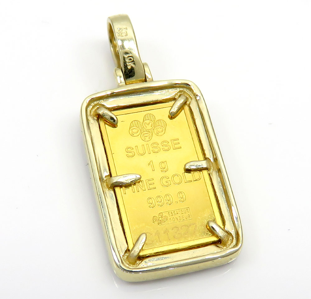 Suisse 24k gold mini bar diamond pendant 070ct aloadofball Image collections