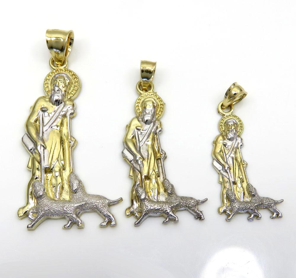 10k yellow gold large saint lazarus of bethany pendant