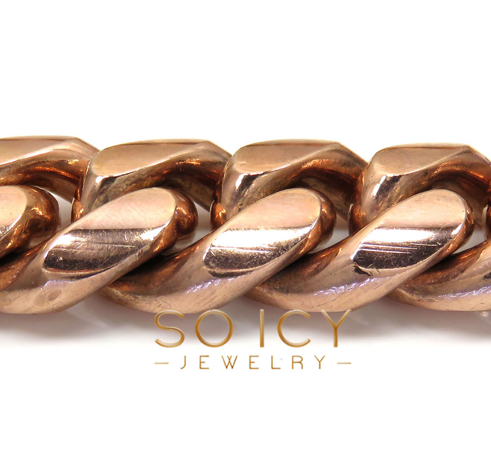10k rose gold kilo miami chain 30 inch 22mm wide