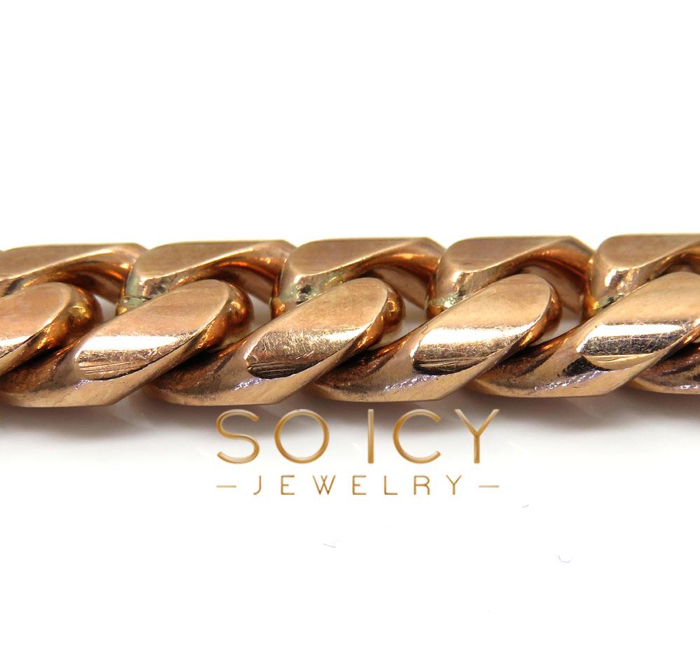 10k rose gold miami chain 30 inch 11.5mm wide