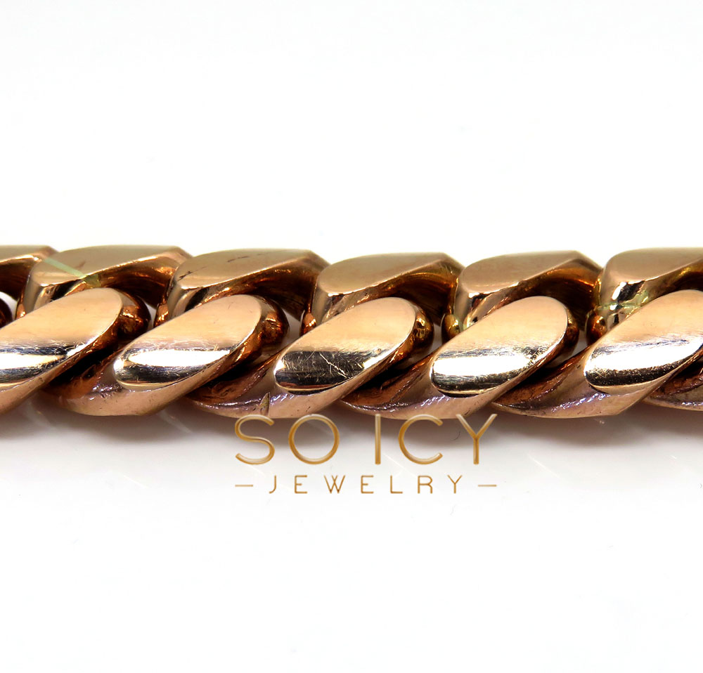 10k rose gold half kilo miami chain 30 inch 16.2mm