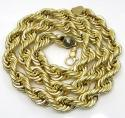 10k yellow gold xl smooth semi hollow rope chain 14mm 24-30 inch