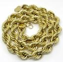 10k Yellow Gold XXL Smooth Semi Hollow Rope Chain 16mm 24-30 Inch
