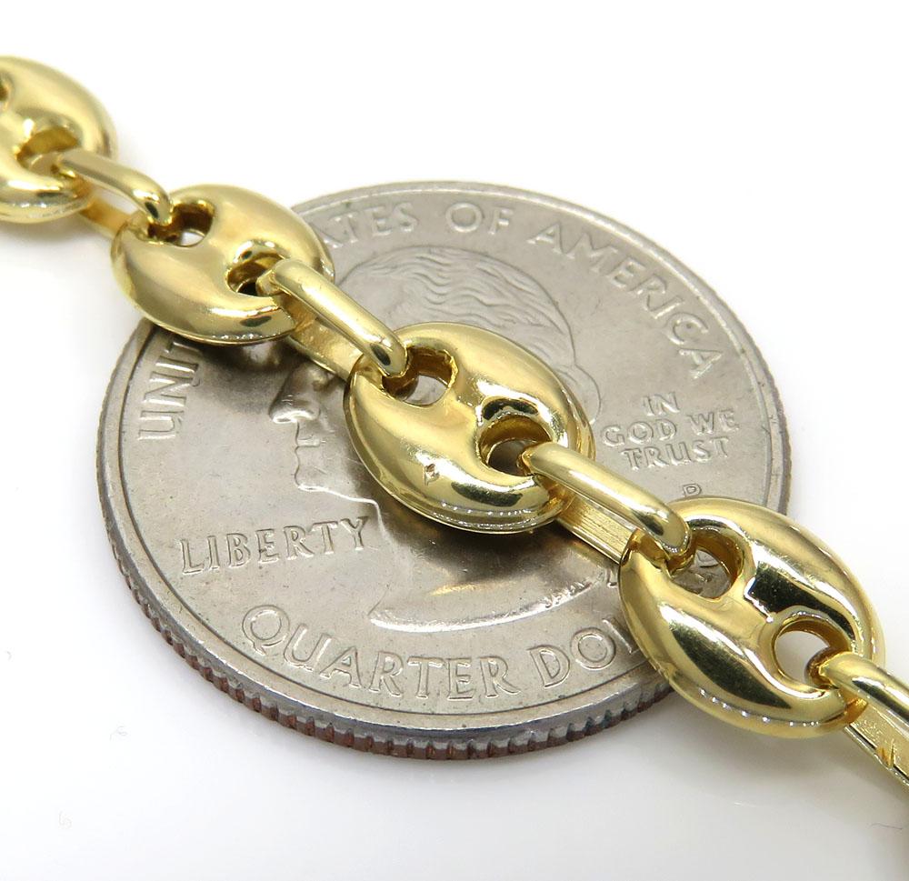 10k yellow gold puffed gucci chain 24-28 inch 7mm