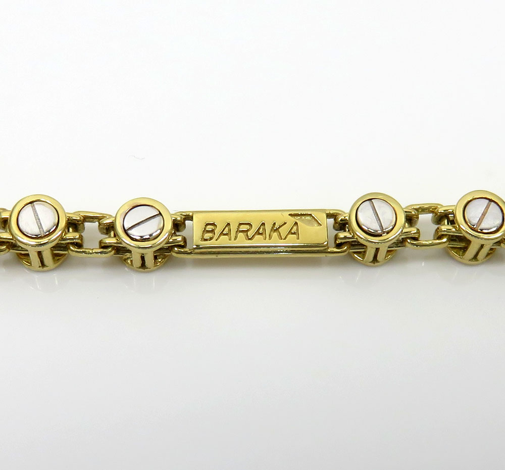 Baraka 18k two tone gold space run collection screw bracelet 0.02ct