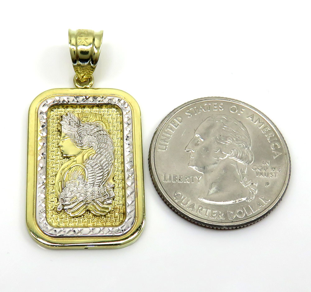 10k yellow gold small solid back gold bar pendant