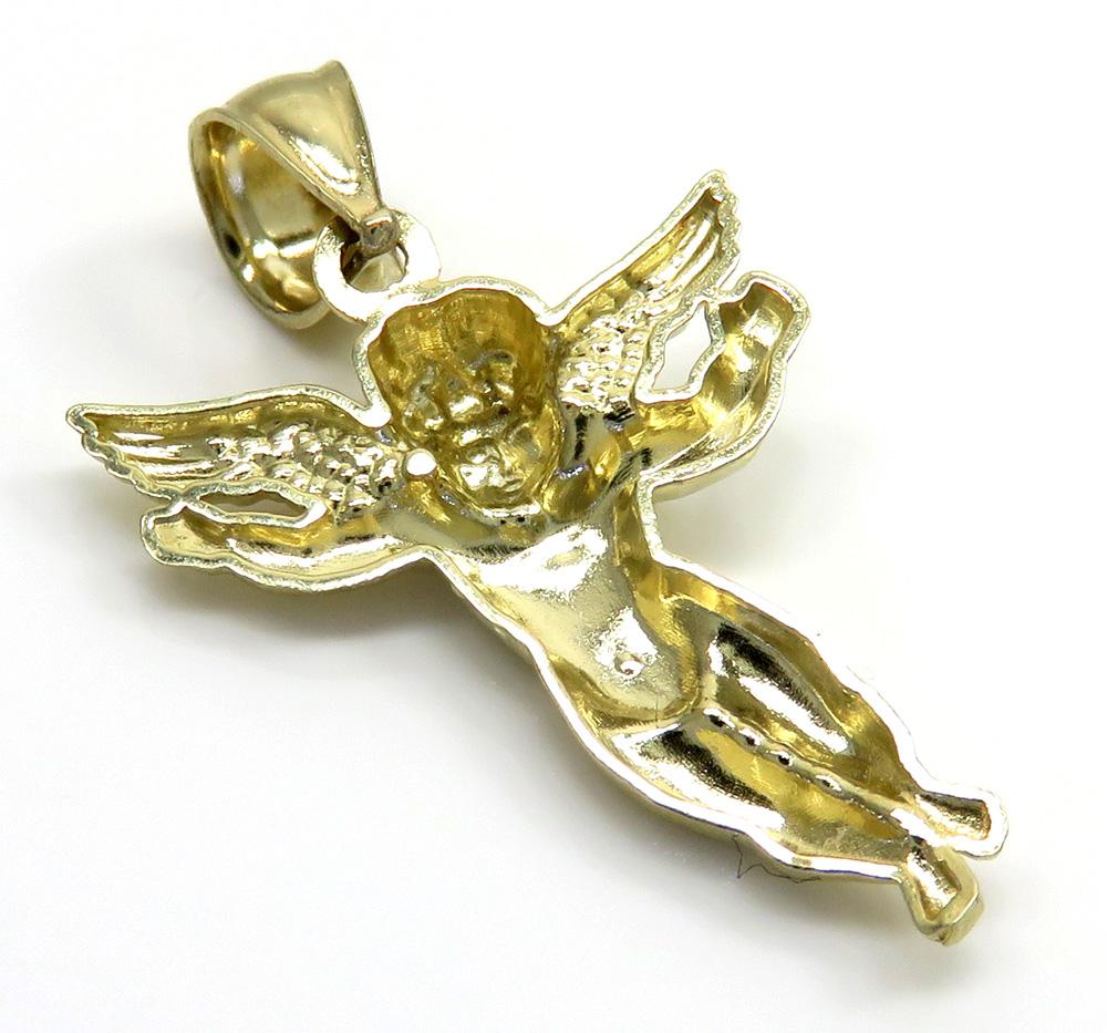 10k yellow gold mini angel pendant