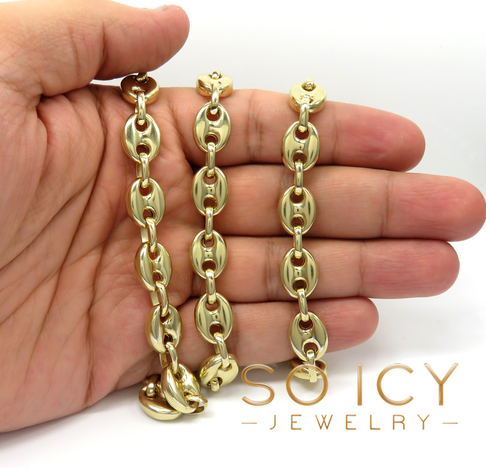 14k yellow gold large gucci link chain 26 inch 11mm
