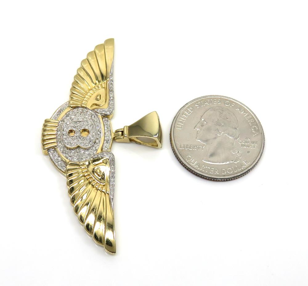 K/&C 14k Yellow Gold 3-D Airplane Charm