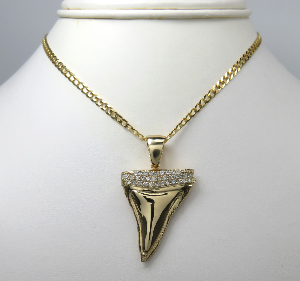 pendant image necklace fwrd shark of givenchy metal gold large product in tooth silver give