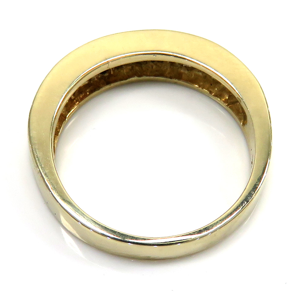 14K Yellow Gold Baguette Wedding Band Ring 100CT
