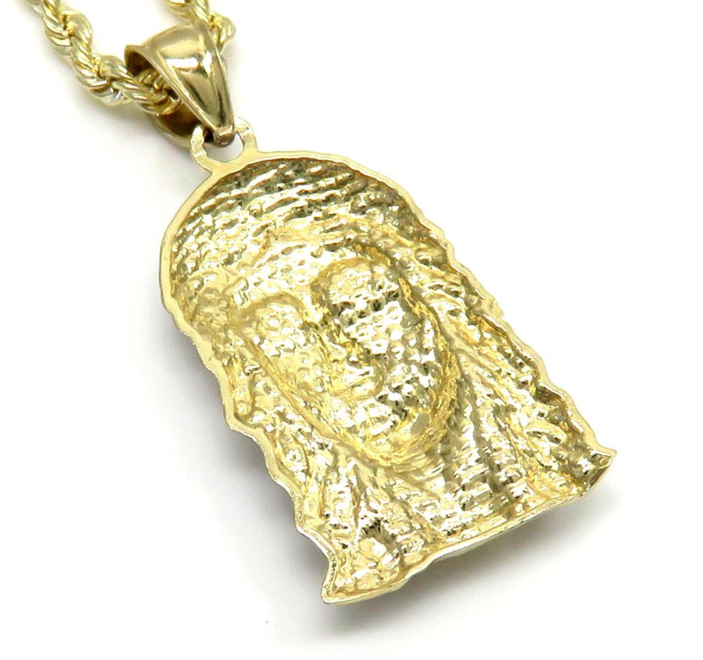 10k yellow gold small jesus pendant 24