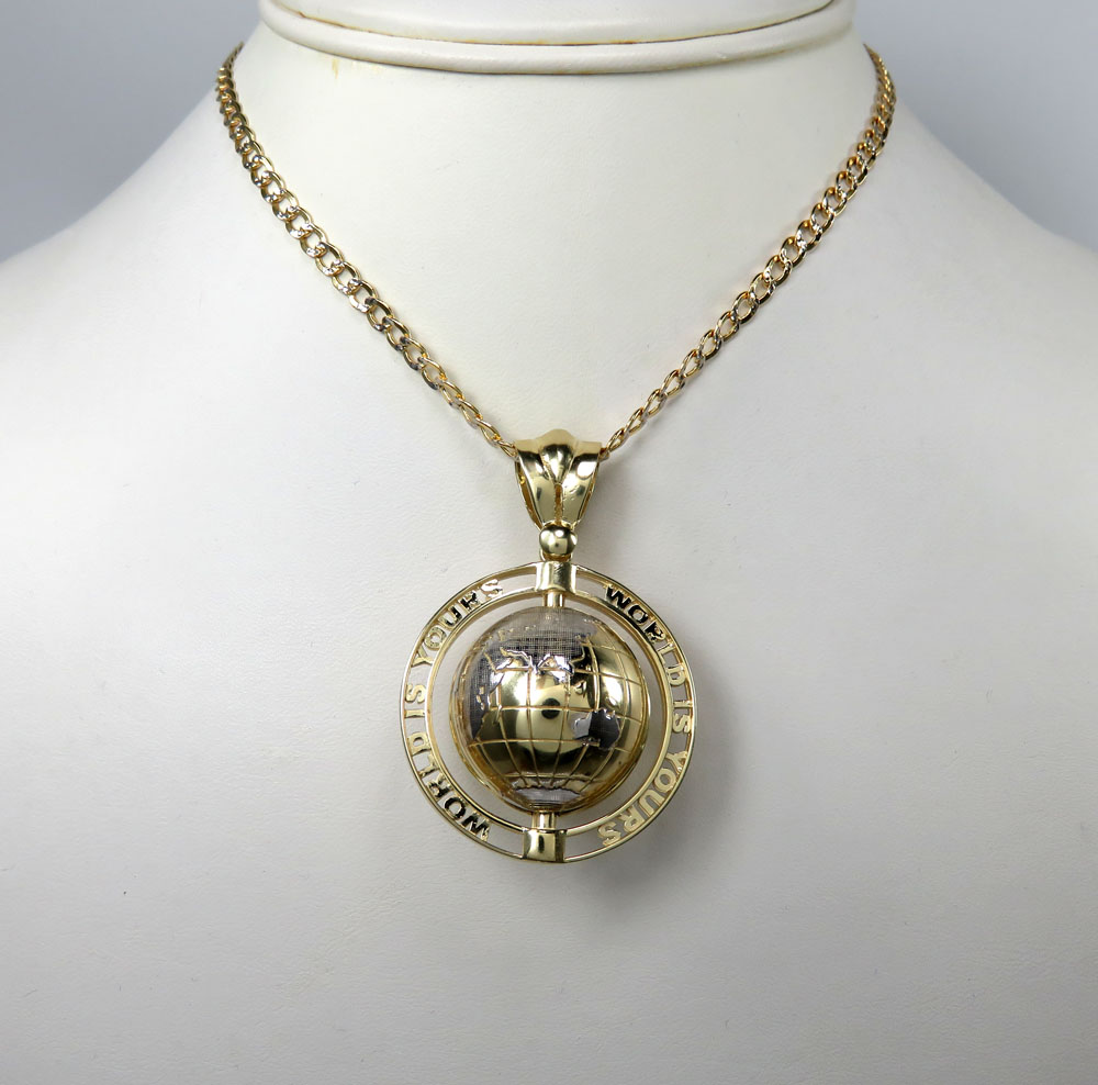 World Is Yours Spinning Globe Pendant