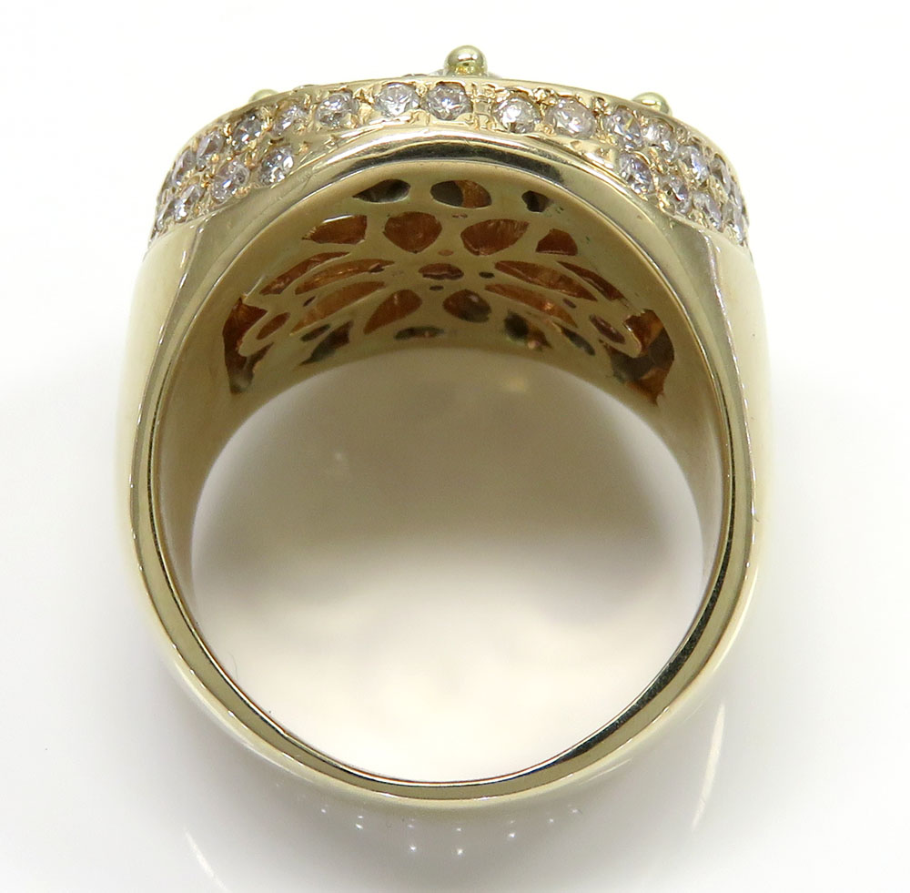 14k yellow gold cluster round diamond ring 4.50ct